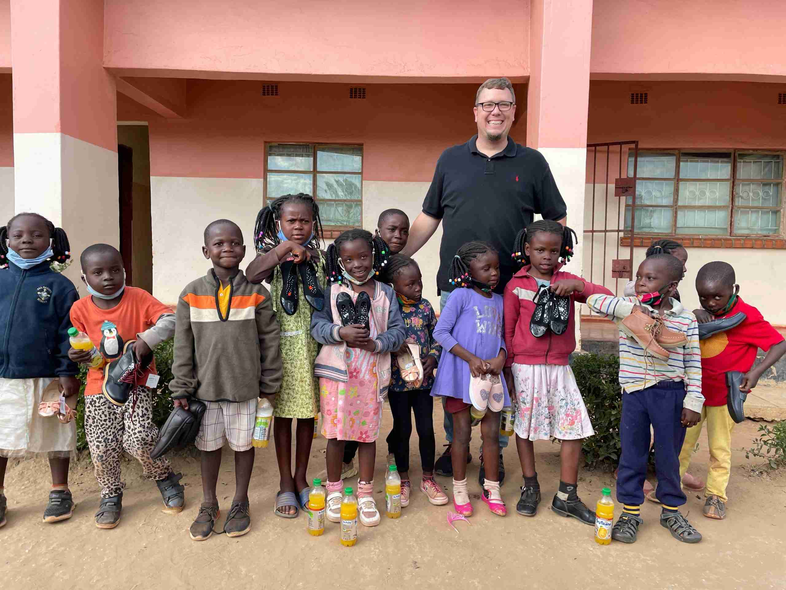 Andy with Finding Grace Children